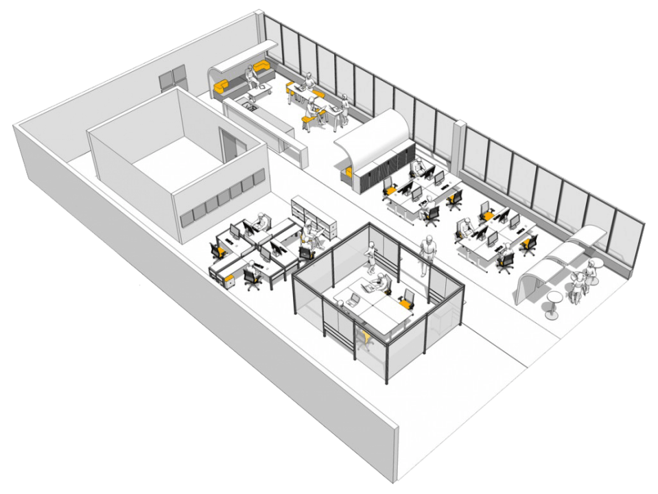 Office Space Planning, office refurbishment company London image