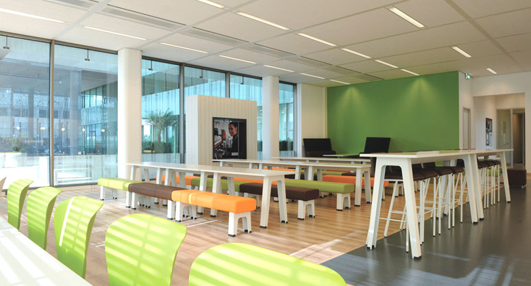 Image of a collaborative office productivity workspace
