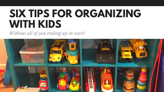 Organizing With Kids - Space and Serenity Header Graphic