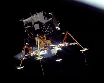 Apollo 11 LM 'Eagle' in lunar orbit