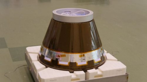 The HTV Small Re-entry Capsule. Photo Credit: JAXA