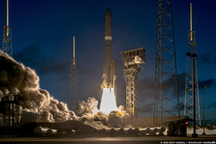 File photo: An Atlas V rocket launches the NROL-101 payload from Space Launch Complex 41 on Nov. 13, 2020. Credit: Matt Haskell / Spaceflight Insider