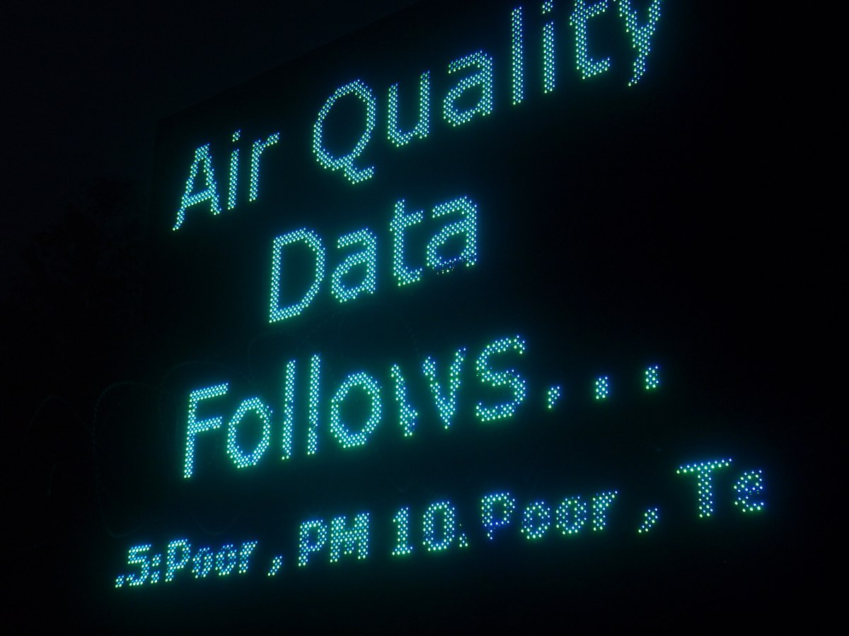 Air Quality Measured in Heaton
