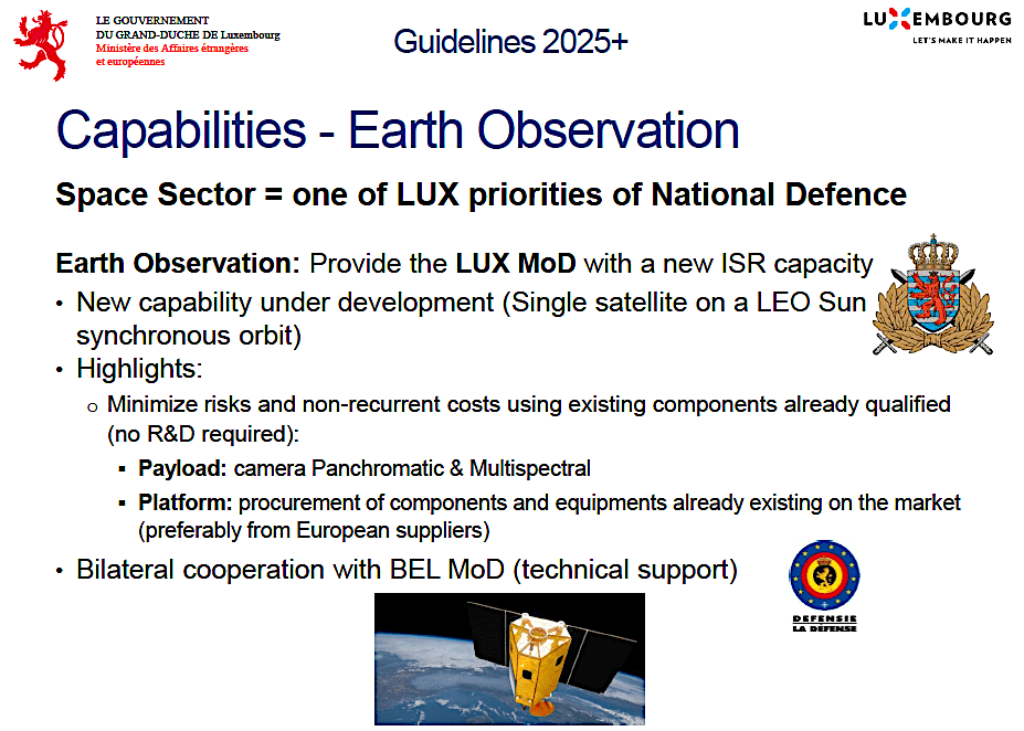 Luxembourg: Commercial satcom, then military satcom, now military satellite ISR