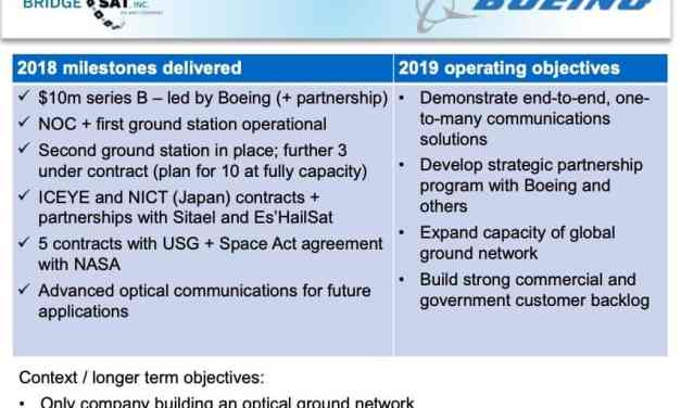 Allied Minds' mediocre 2018 forces cost-cutting; BridgeSat and Hawkeye 360 entering commercial phase
