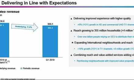SES: There's no friction with Intelsat on C-band proposal; few renewals means video to stabilize in 2019-2020