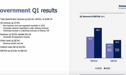Inmarsat sees improved US, global government sales, better defense vs. Ku-band VSAT satellite competition