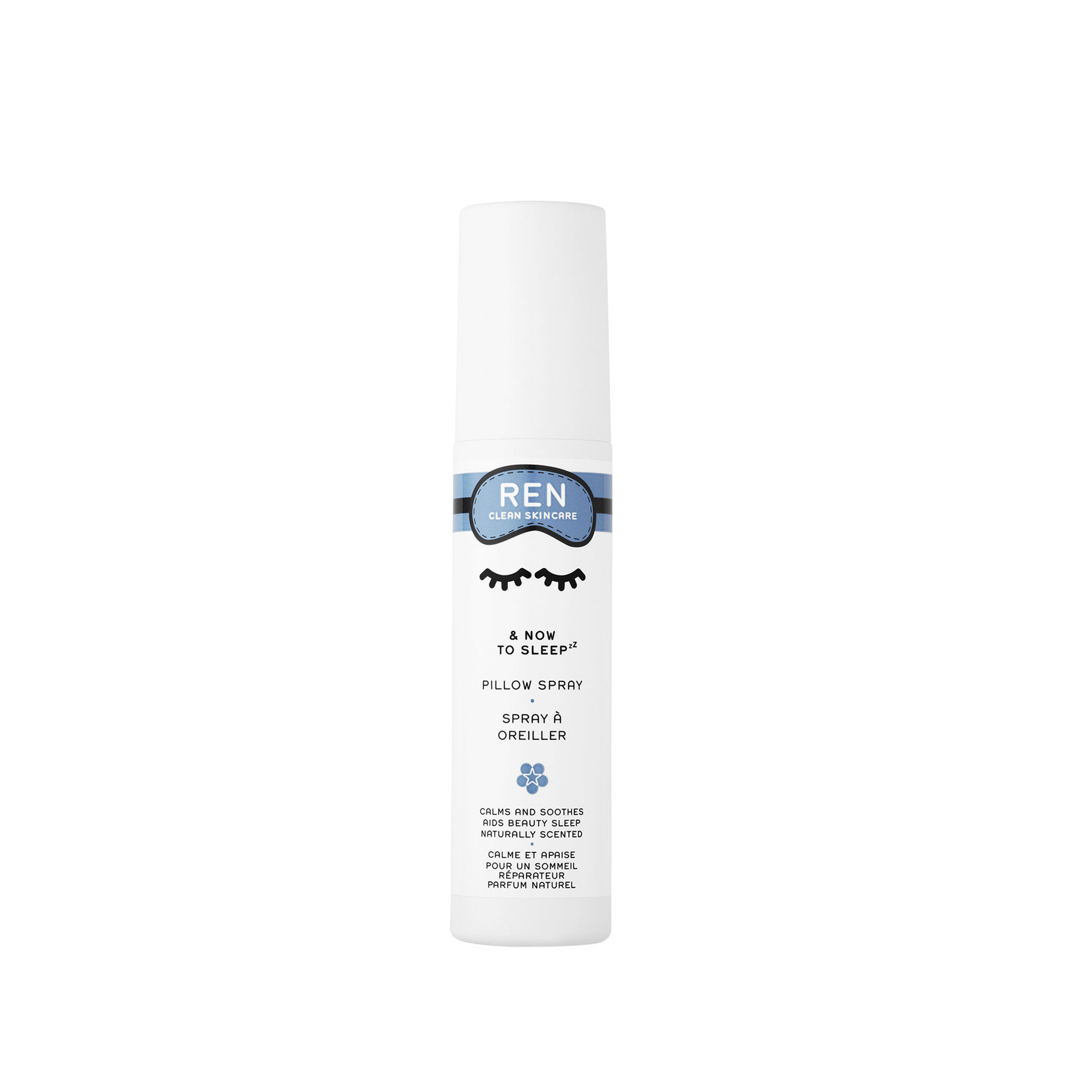 now to sleep pillow spray by ren clean skincare