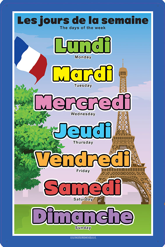 French Days Of The Week Spaceright Europe Ltd