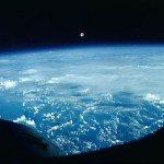 The Moon over Earth