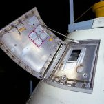 Block I hatch consisted of two pieces and required pressure inside the cabin be no greater than atmospheric to open