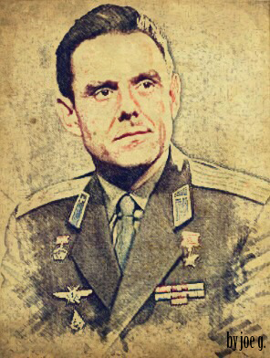 Sketch of Vladimir Komarov by Joe G.