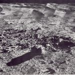 Photomosaic of a panorama taken by Surveyor 7
