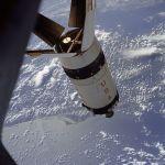 Apollo 7 S-IVB rocket stage in Orbit