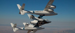 WhiteKnightTwo carrying SpaceShipTwo (Credits: Virgin Galactic).