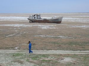 Was the Virgin Land Campaign that caused the Aral Sea disaster only a giant cover up to hide the construction of Cosmodrome Baikonour? (Credits: Wikipedia)