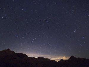 2012 Quadrantid meteors over the Mojave Desert (Credits: Wally Pacholka/TWAN/National Geographic).
