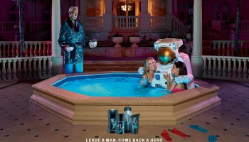 Axe Apollo astronaut and girls in pool