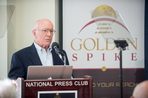 Gerry Griffin announcing the Golden Spike Company's project in December 2012 (Credits: Golden Spike).