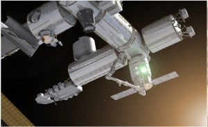 Artist's impression of Cygnus module docked with ISS (Credits: OSC).