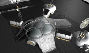 Artist's rendering of SinterHab concept