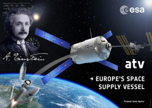 ATV-4, named after Albert Einstein, will be launched to ISS in the next months (Credits: ESA).
