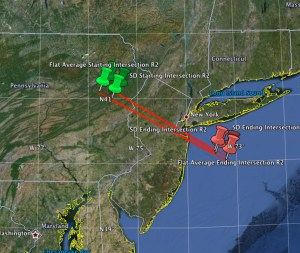 Trajectory of what is being called the Manhattan Meteor compiled by the American Meteor Society based on eyewitness reports (Credits: AMS).
