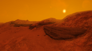 """Scene from """"Lacuna Passage"""", based on Hi-RISE imagery (Credits: Random Seed Games)"""
