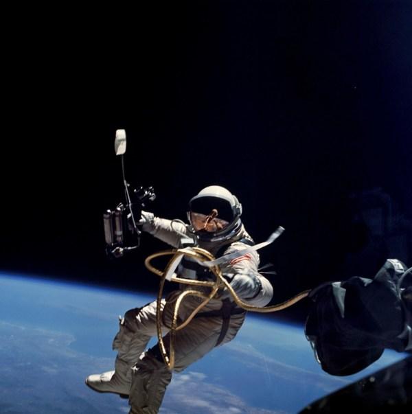 Ed White, the first NASA astronaut to undertake an EVA (Credits: NASA).