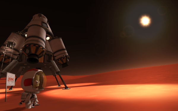 Landing on Duna with Kerbal Space Program