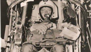 Capt. Joe Kittinger prepares to launch in Man High I (Credits: USAF).