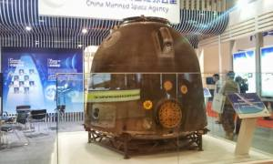 Shenzhou 10 reentry capsule. The module was used by  Nie Haisheng, Zhang Xiaoguang and Wang Yaping to return back on Earth (Credits: Matteo Emanuelli)