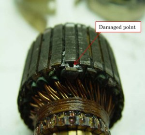 Damaged armature from Japan Air Commuter JA847C (Credits: Japan Transportation Safety Board).