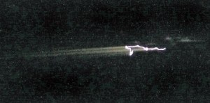 Photo of the Uruguay de-orbiting debris (Credits: Dan Reichel).