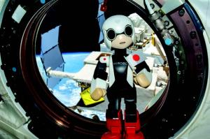 Kirobo, launched to the International Space Station in August 2013, is the first caretaker robot in space. The anime-like creation is intended to assist Japanese astronaut and Expedition 39 Commander Koichi Wakata to maintain psychological well-being through communication (Credits: Toyota).
