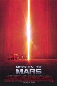 Theatrical poster for the film Mission to Mars (2000). Musgrave may not want go to Mars but he made a cameo appearance as 3rd CAPCOM in Brian De Palma's movie where is also served as a consultant.  (Credits: Touchstone Pictures, Spyglass Entertainment).