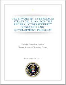 Trustworthy Cyberspace report