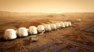 Mars One aims to establish human settlement by 2025 displayed in this artist's illustration of the Mars One habitat (Credit: Mars One/Bryan Versteeg).