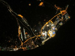 Mainstream media and the public they serve have been slow to embrace satellite imagery unless it's of highly recognizable features, such as this photograph taken from the International Space Station of the Sochi Olympics (Credits: NASA).