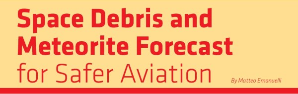 Space Debris and Meteorite Forecast for Safer Aviation