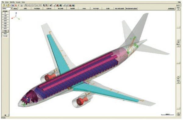 Aircraft computer model.