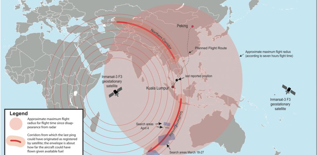 Malaysian Flight 370 search area