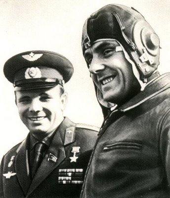 Vladimir Komarov and Yuri Gagarin