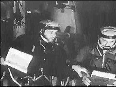 Vladislav Volkov (left) and Georgi Dobrovolski aboard Salyut 1.