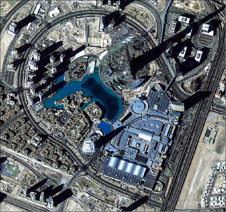 DubaiSat-2 image of Downtown Dubai