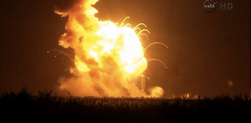 Orbital Sciences Antares Rocket explodes right after launch
