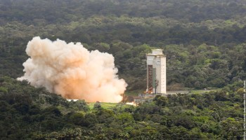 Ariane 5 test fire at Guiana Space Centre