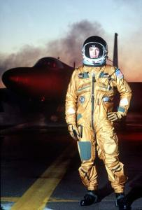 UT pilot pressurised suit.