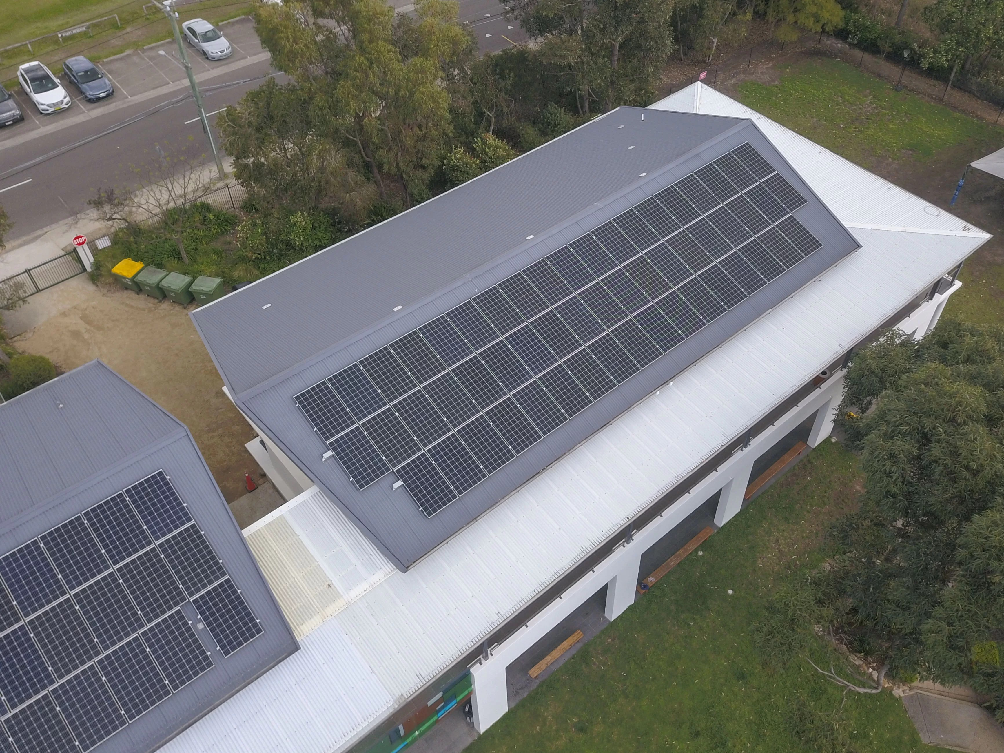 John Colet School Solar Panels Aerial View