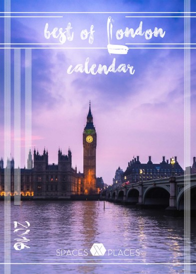 BEST OF LONDON 2016 printable desk calendar spacesXplaces